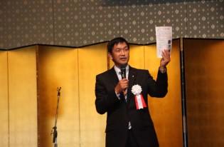 県政報告会を開催。「夢、山口」と題して未来志向の話をさせて頂きました。