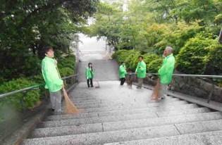 琴崎八幡宮清掃奉仕(修養団宇部市連合会主催)を行いました。
