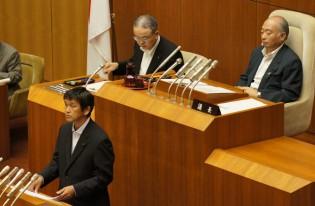 山口県議会8月定例議会の一般質問:約50名が傍聴して下り、知事・議長室を表敬訪問