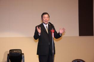 「平成24年 岡村精二・新春の集い」を開催。防災について50分も講演してしまいました。
